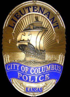 Us State Of Kansas City Of Columbus Police Department Lieutenant Badge Police Badge Badge Police