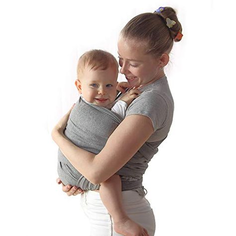 91374cf4715 Baby Wrap Carrier Upsimples Breathable Baby Sling Wrap- Stretchy Ring Sling  Baby Carrier for Infants