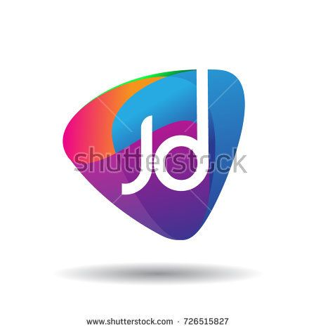 letter jd logo with colorful splash background letter combination logo design for creative industry web business an logo concept branding design logo design pinterest