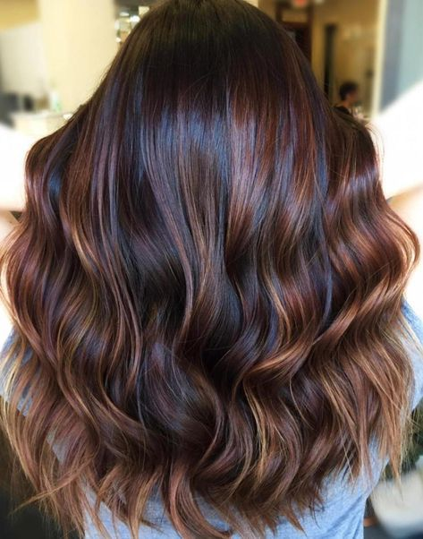 60 Hairstyles Featuring Dark Brown Hair With Highlights Hair Highlights Auburn Balayage Copper Balayage