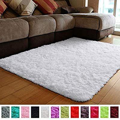 Amazon Com Pagisofe Soft Comfy White Area Rugs For Bedroom Living Room Fluffy Shag Fur Carpet For Kids Nursery Plu Bedroom Rug Carpets For Kids Rugs On Carpet