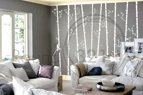 Bamboo Trees Wall Decal For The Home  Bedroom and /Or by Round321, $98.00