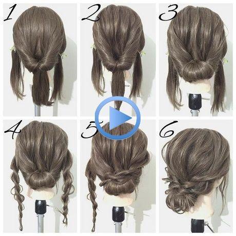 Einfache Frisuren Mittellanges Haar In 2020 Diy Updo Medium Hair Styles Coiffure Simple