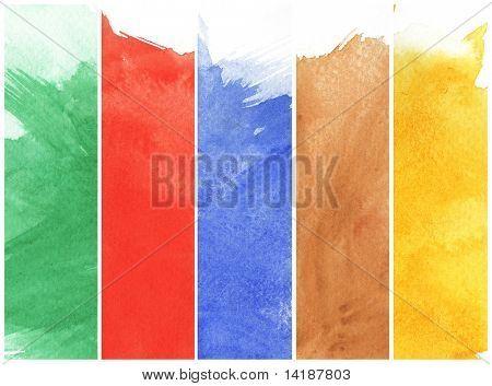 Watercolor Paints On A Rough Texture Paper Poster Paper Texture
