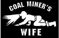 Crawling Coal Miner Vinyl Decal StickersLike Father Like Son Miner decals
