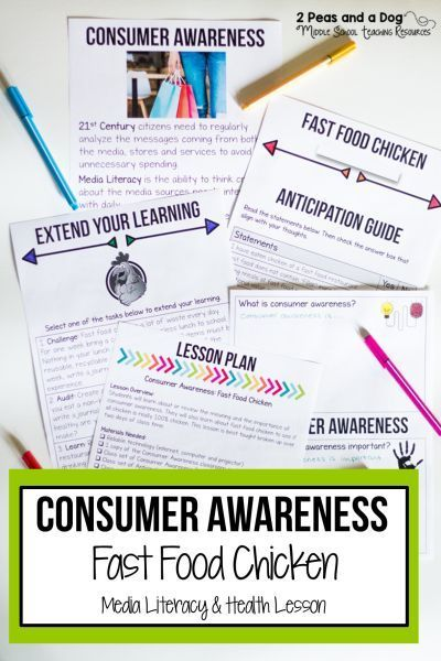 Health Lesson Consumer Awareness Help Your Students Develop A Deeper Understanding Of Consumer Aw Health Lesson Plans Media Literacy Lessons Health Lessons