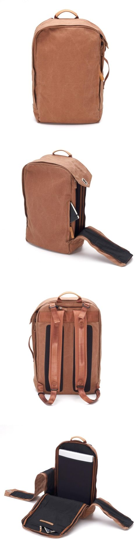 QWSTION 2012 - Backpack Washed Leather Brown | Raddest Men's Fashion Looks On…