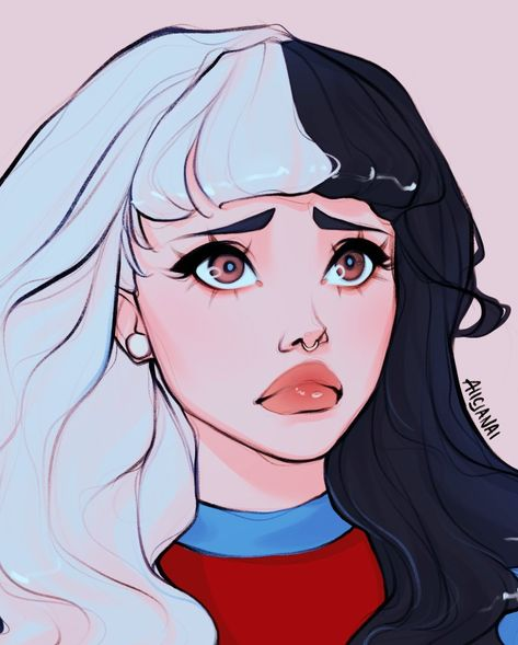 Cute Art Styles, Cartoon Art Styles, Art Drawings Sketches, Cute Drawings, Melanie Martinez Drawings, Melanie Martinez Anime, Crybaby Melanie Martinez, Character Inspiration, Character Art
