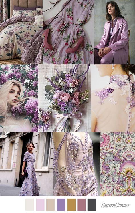 LOVELY LILAC - color, print & pattern trend inspiration for Spring / Summer 2019 by Pattern Curator. Pattern Curator is a trend service for color, print and pattern inspiration.