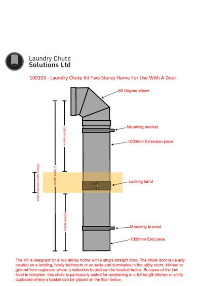 250mm Laundry Chute Kit Two Storey Laundry Chute Laundry