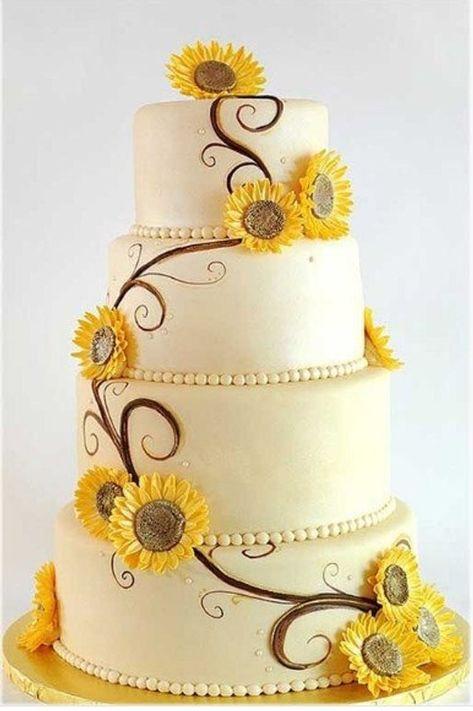 Very pretty Sunflower cake