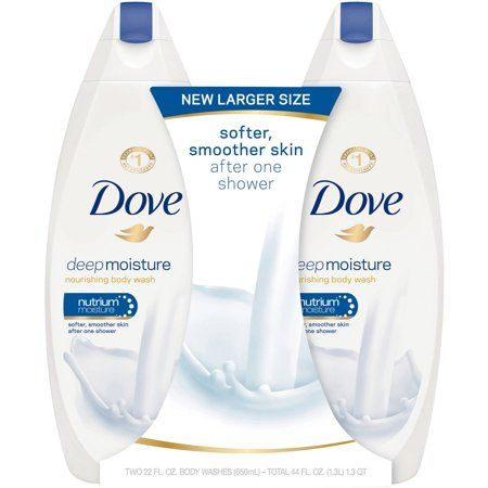 Dove Body Wash Deep Moisture 22 Oz 2 Count Walmart Com Dove Body Wash Body Wash Dry Skin Body