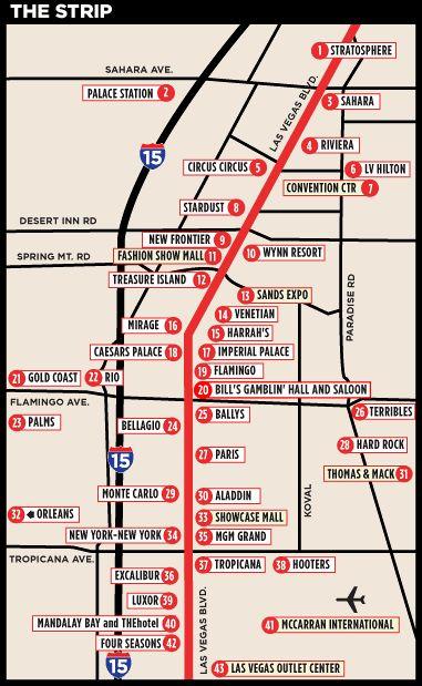Las Vegas Strip Distance Map Blue Ash Ohio Police Dispatcher - Las vegas map of strip hotels