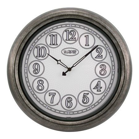 "104-730 La Crosse 8/"" Dual Faced Outdoor Station Analog Clock /& Thermometer"