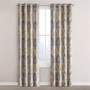 Echo Design Jaipur Window Single Curtain Panel Size W X L Color Yellow