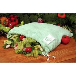 Keep salad fresh, longer  Whether your salad and vegetables are store-bought or harvested from your own garden, you want them to stay crisp and fresh in the refrigerator. The Salad Sac™ keeps lettuce, herbs and vegetables fresh for days, naturally.  I want one of these - no, I need one of these.  I'm sick of tossing out yucky slimy brown lettuce
