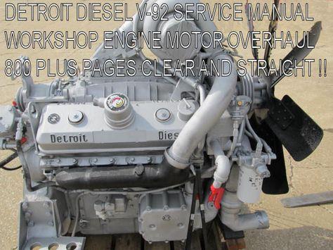 Detroit Diesel Series V-71 Factory Service Manual Engine Workshop Repair  *Nice*