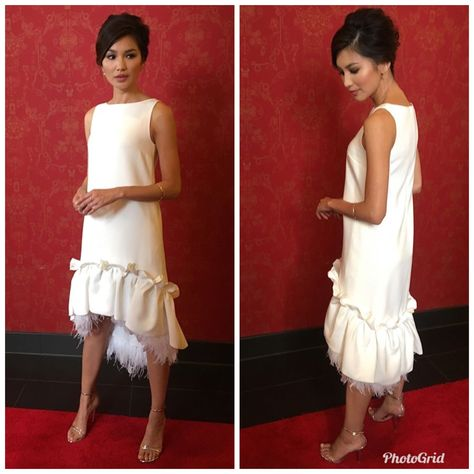 Gemma Chan - the shift is Such an underestimated dress! So pretty 💝