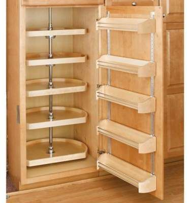 Rev A Shelf D Shape 22 Inch Lazy Susan 5 Shelf Set In Natural This Is On My Wish List For This Year Kitchen Ftc Disclosure This Pin No Pantry Solutions Kitchen Organization Small Pantry