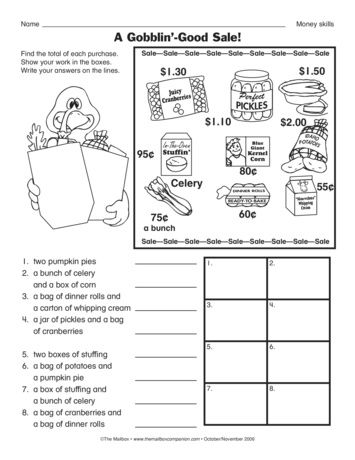 To Complete This Math Worksheet Students Use Their Money Skills And Addition Skills To Shop For A Than Thanksgiving Worksheets Life Skills Lessons Money Skills Life skills math worksheets