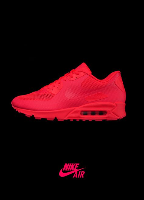 air max 90 hyperfuse solar red size 6