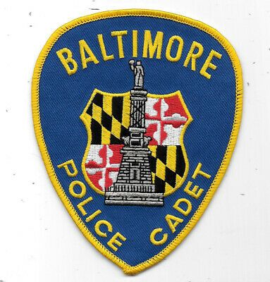 Us State Of Maryland City Of Baltimore Police Department Cadet Patch Baltimore Police Police Badge Police