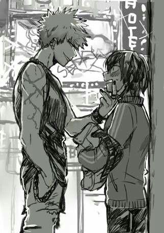 Looks like older!Katsuki and younger!Eijirou | I Need A Hero