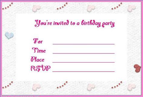 Free Birthday Invitations Online Fancy Free Birthday