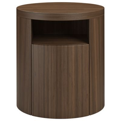 Mulberry Nightstand Side Table Round Nightstand Drawer