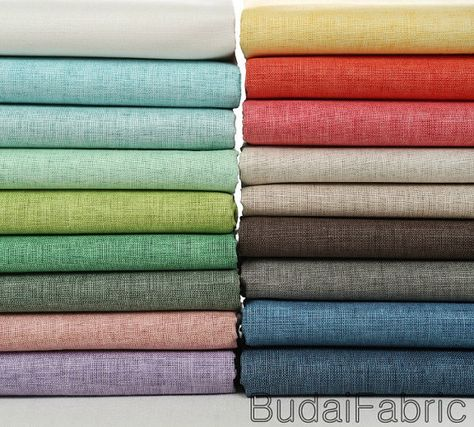 Solid Color Wax Coating Linen Fabric by the Yard Cotton Fabric Korean Linen Window Curtain Fabrc Handwork - half yard