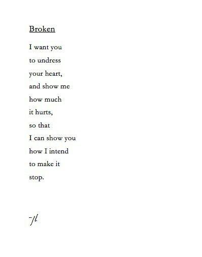 How To Fix A Broken Heart Poem