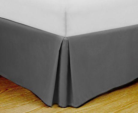 Swift Home Super Soft Microfiber Bed Skirt Gray Full Bedskirt