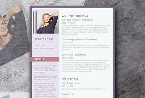Professional Clean u2013 A Basic but Stylish Resume Layout Resume - club manager sample resume