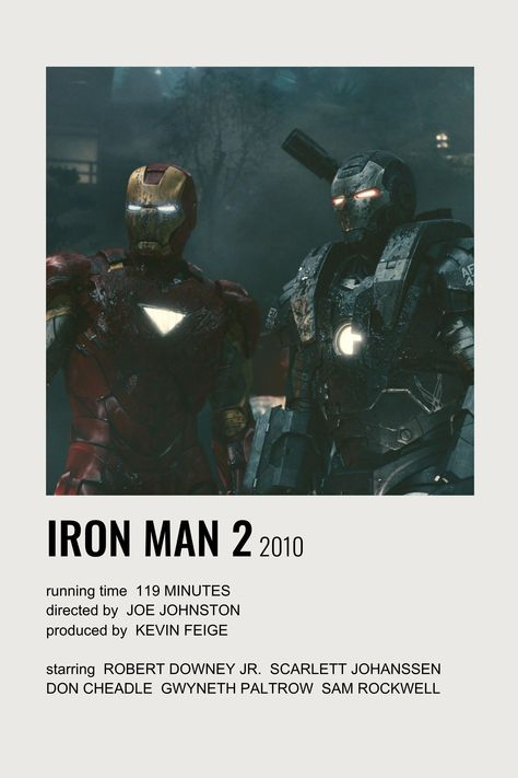iron man 2 polaroid film poster