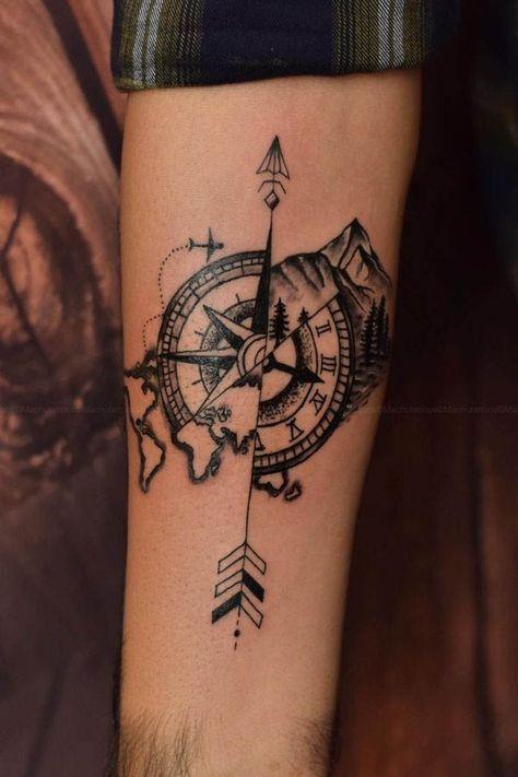 travel tattoo Travel customized tattoo done by suresh machu from machu tattoo studio bangalore india