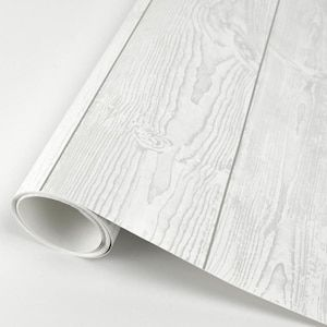 Scott Living 30 75 Sq Ft White Vinyl Textured Wood 3d Self Adhesive Peel And Stick Wallpaper Lowes Com White Vinyl Peel And Stick Wallpaper Wallpaper