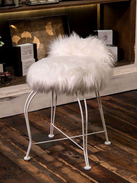 Miraculous Available Fuzzy Stool Vanity Stool Stool Machost Co Dining Chair Design Ideas Machostcouk