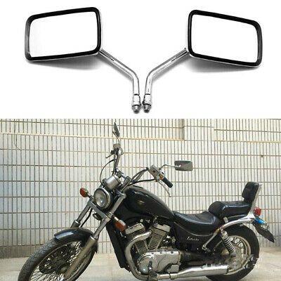 Chrome Blade style Motorcycle Side Mirrors for Bobber Cruiser Chopper Motor Bike