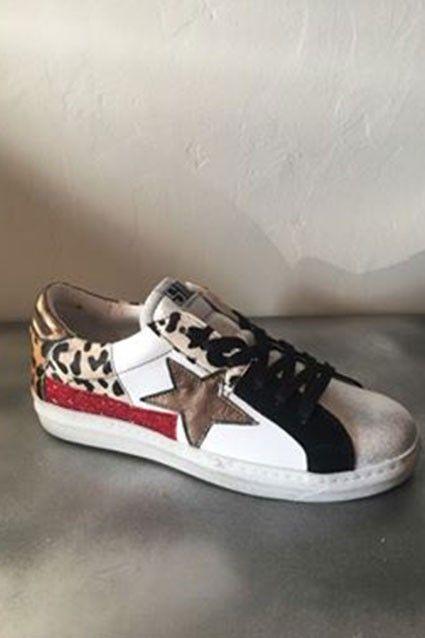 Baskets Semerdjian Leopard | Baskets, Chaussure, Cuir