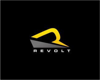 Revolt - R Letter Logo Logo design - Revolt - R Letter Logo, files available are Illustrator eps, editable, resizable, CMYK and ready to print. This logo was deliberately designed with strong, simple, solid lines so it's instantly recognisable, and it will look great embroidered onto a merchandise, printed on business cards. Price $299.00