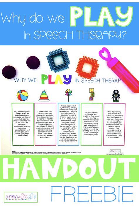 Free Parent Handout for Preschool Speech Therapy