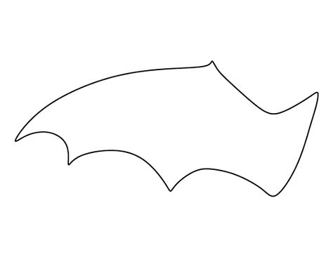 photo regarding Bat Template Printable known as Pinterest