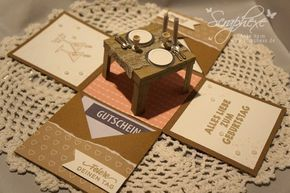 Explosion Box Candle Light Dinner Scraphexe De Geschenke Basteln Diy Geschenke Basteln Geschenke
