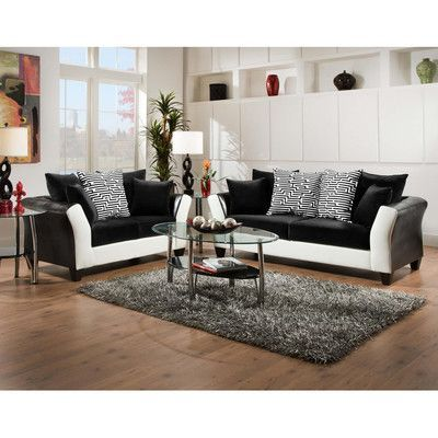Latitude Run Dilorenzo Contemporary 2 Piece Wood Frame Living Room Set