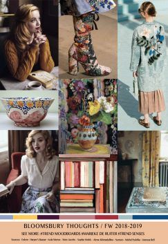 TRENDSENSES Moodboard FW 2018-2019 Bloomsbury Thoughts