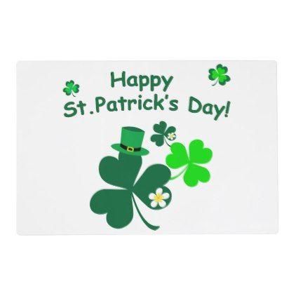 Happy St Patrick 39 S Day Placemat Saint Patricks Day St Patricks Holiday Ireland Irsih Specia St Patricks Day Happy St Patricks Day St Patrick S Day Gifts