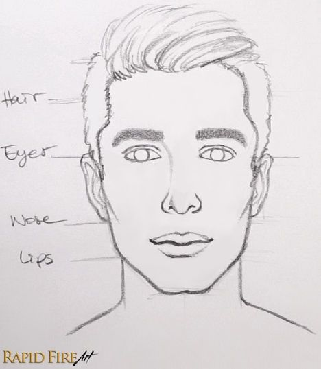 How To Draw Faces For Beginners Simple Rapidfireart Face Drawing Easy Drawings Male Face Drawing
