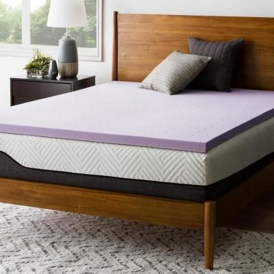 Lucid 2 In King Memory Foam Mattress Topper Purple Mattress Thick Mattress Topper Memory Foam Mattress Topper