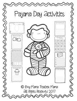 Pajama Day Activities For The Classroom Pajama Day Pajama Day