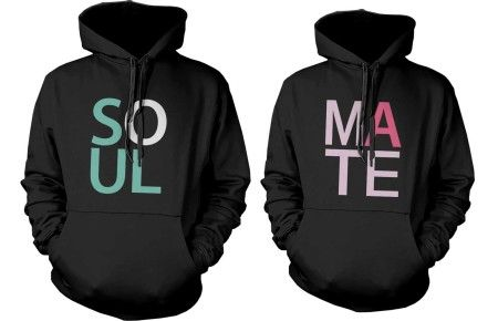 soul mate couple hoodies